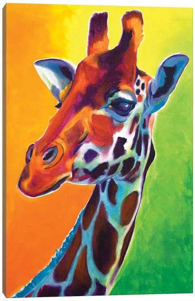 Giraffe - Summer Fling Canvas Art Print