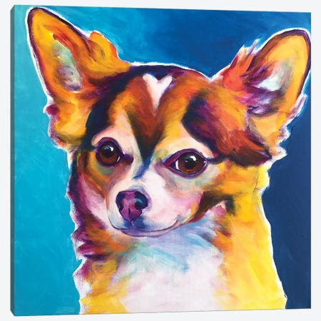 Honey The Chihuahua Canvas Print #DWG168} by DawgArt Canvas Art Print