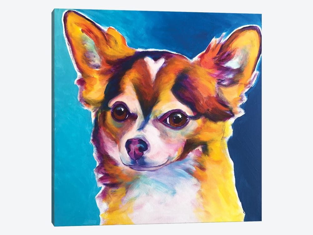 Honey The Chihuahua by DawgArt 1-piece Canvas Art