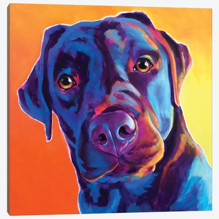 Kona The Lab Canvas Print #DWG172} by DawgArt Canvas Art