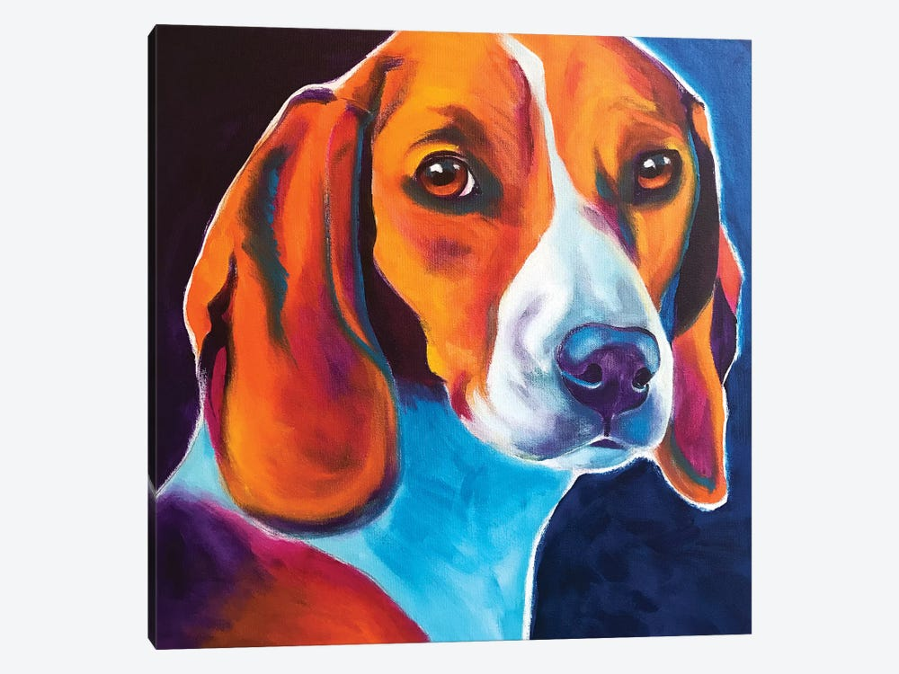 Lucy May The Beagle by DawgArt 1-piece Art Print