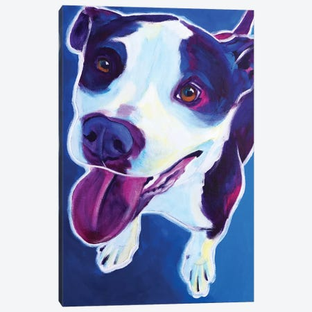 Marchant The Pit Bull Canvas Print #DWG175} by DawgArt Canvas Print