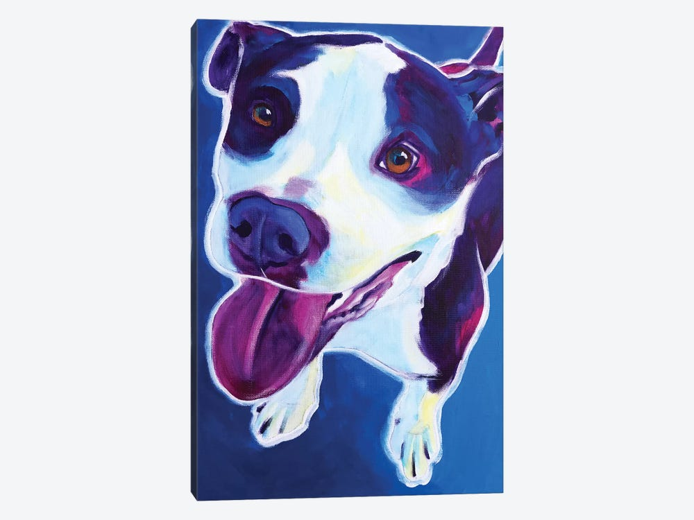 Marchant The Pit Bull by DawgArt 1-piece Canvas Art