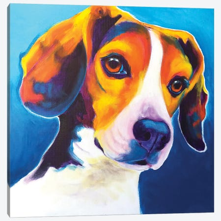 Martin The Beagle Canvas Print #DWG176} by DawgArt Art Print