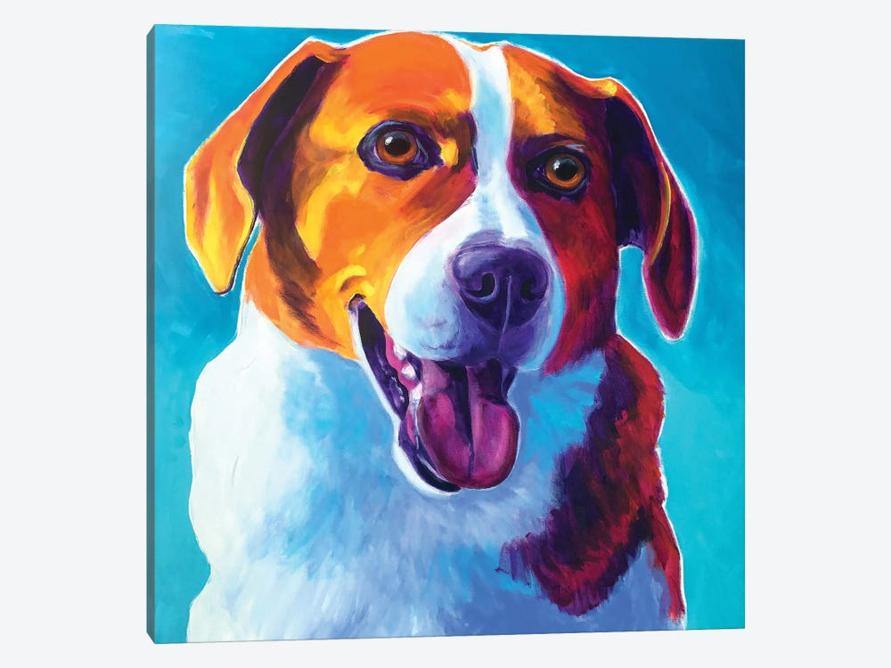Penny The Beagle by DawgArt 1-piece Canvas Art