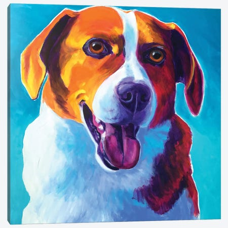 Penny The Beagle Canvas Print #DWG179} by DawgArt Canvas Wall Art