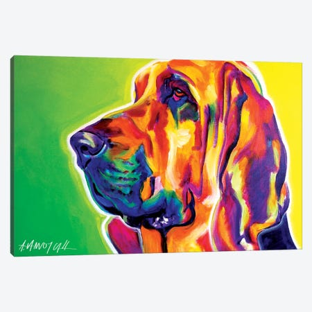 Bloodhound Canvas Print #DWG17} by DawgArt Canvas Artwork