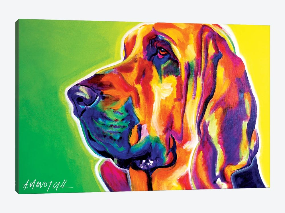 Bloodhound by DawgArt 1-piece Canvas Wall Art