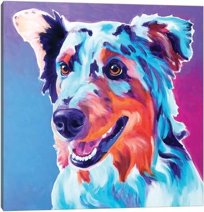 Pepper The Aussie Canvas Art Print