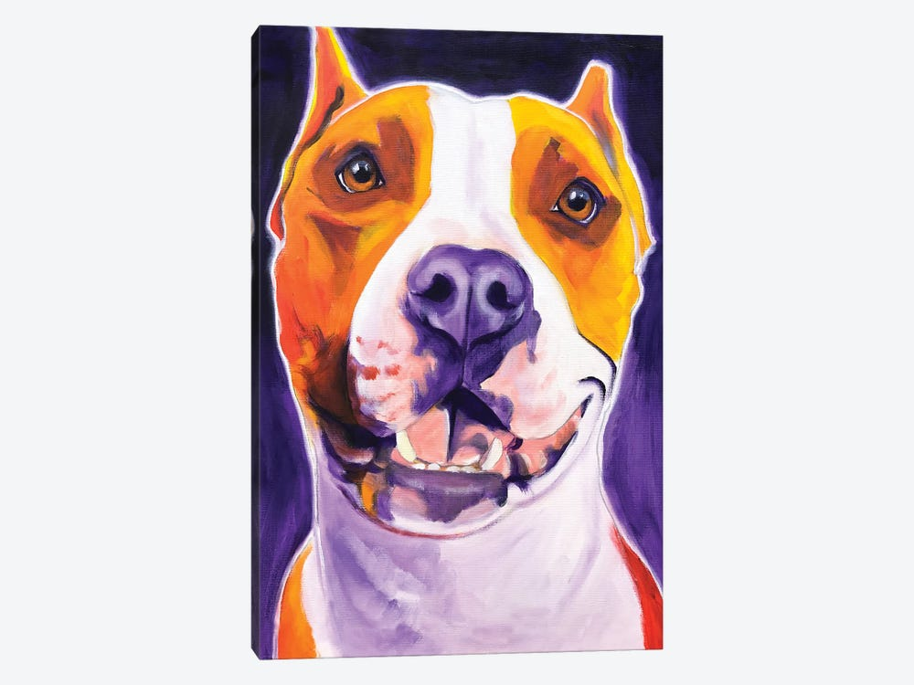 Rexy The Pit Bull by DawgArt 1-piece Canvas Print