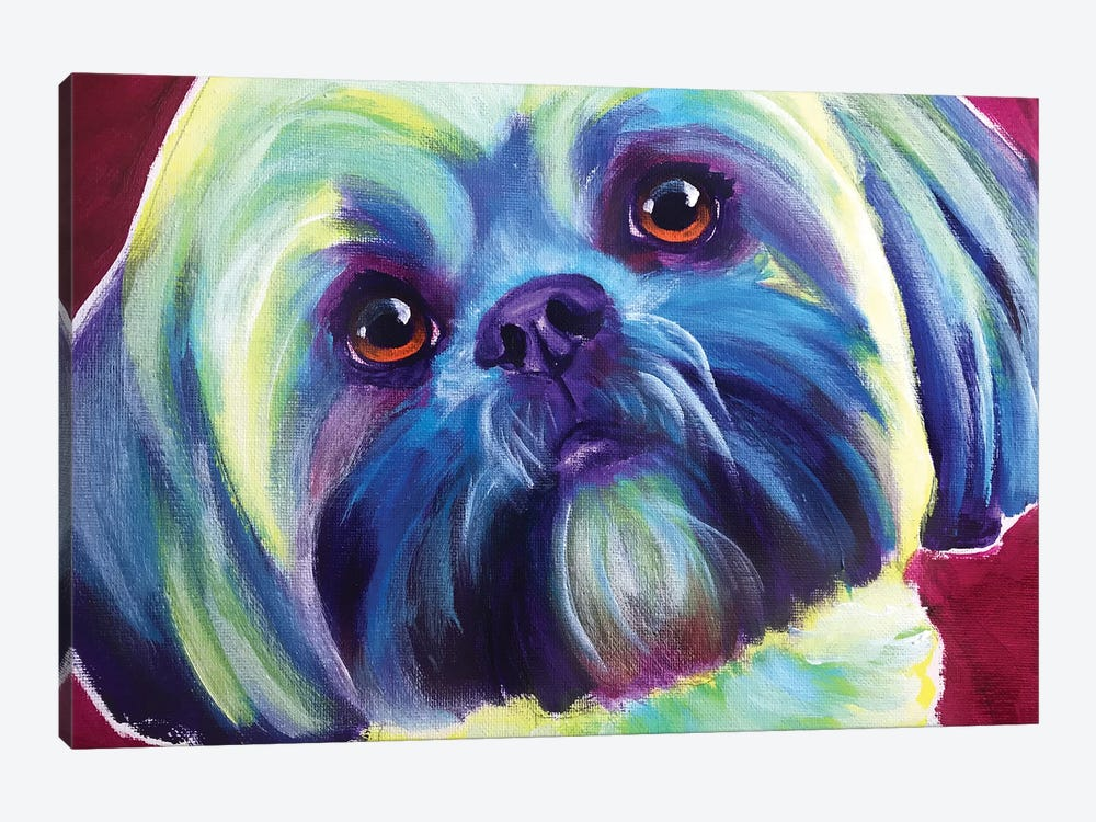 Sadie The Lhasa Apso by DawgArt 1-piece Canvas Art