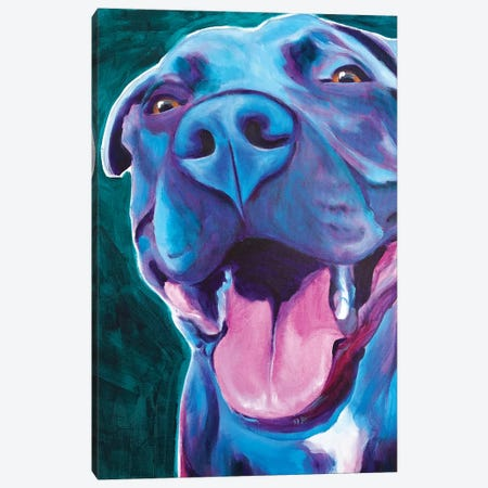 Sky Blue The Pit Bull Canvas Print #DWG185} by DawgArt Canvas Art