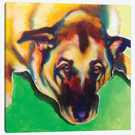 Stanley Boy The German Shepherd Canvas Print #DWG186} by DawgArt Canvas Wall Art