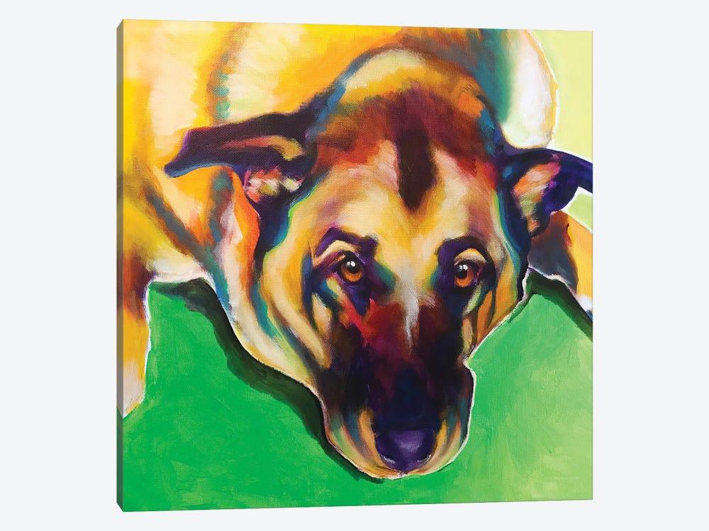 Stanley Boy The German Shepherd by DawgArt 1-piece Canvas Wall Art