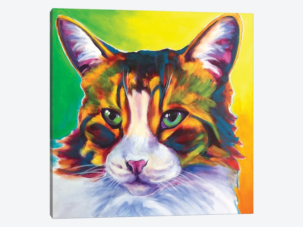 Tabby The Cat by DawgArt 1-piece Canvas Art Print