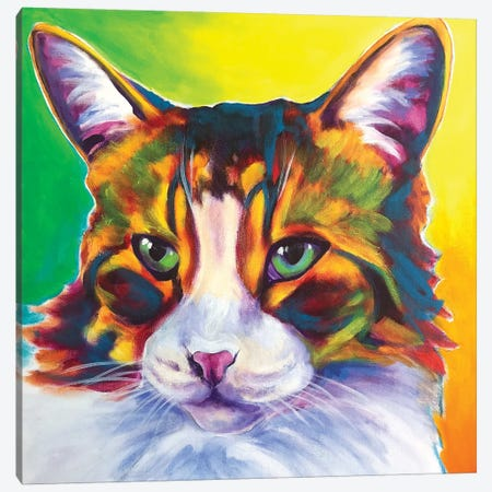 Tabby The Cat Canvas Print #DWG187} by DawgArt Canvas Wall Art
