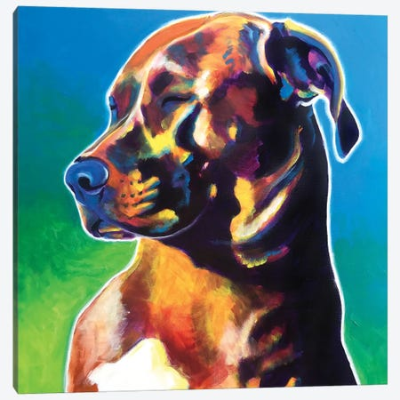 Twyla The Pit Bull Canvas Print #DWG191} by DawgArt Canvas Artwork