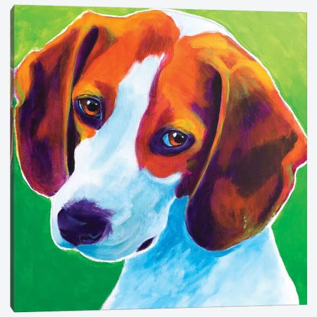 Watson The Beagle Canvas Print #DWG192} by DawgArt Canvas Wall Art