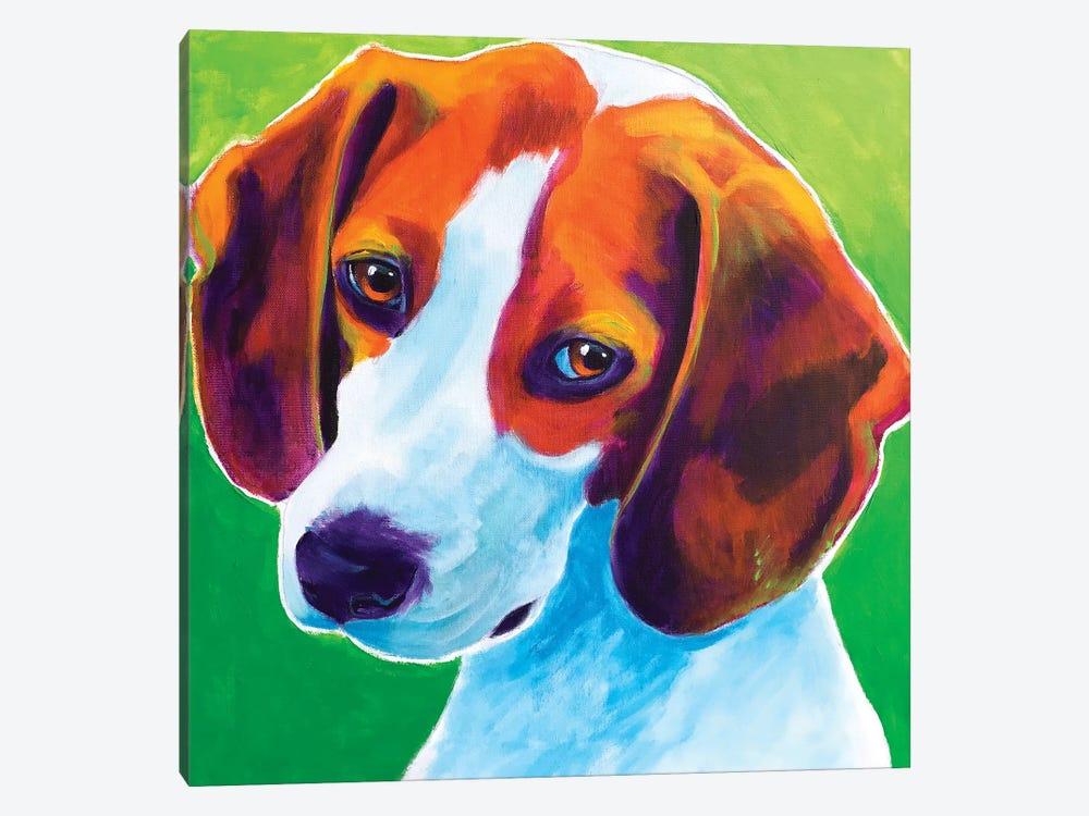 Watson The Beagle by DawgArt 1-piece Canvas Art Print