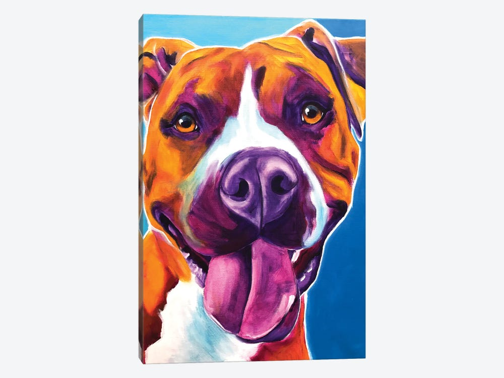 Yummy The Pit Bull 1-piece Canvas Artwork
