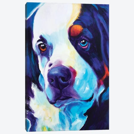 Zeke The Bernese Mountain Dog I Canvas Print #DWG194} by DawgArt Art Print