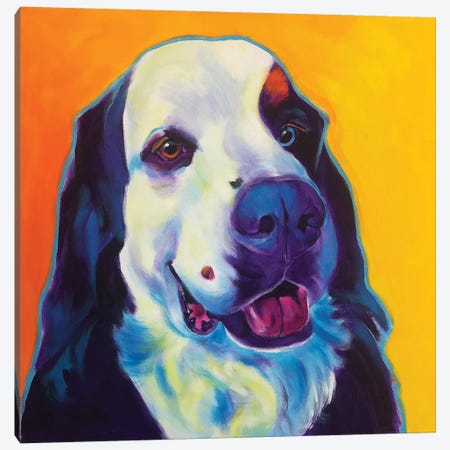 Zeke The Bernese Mountain Dog II Canvas Print #DWG195} by DawgArt Art Print