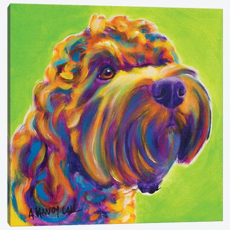 Benny the Cockapoo Canvas Print #DWG199} by DawgArt Canvas Artwork