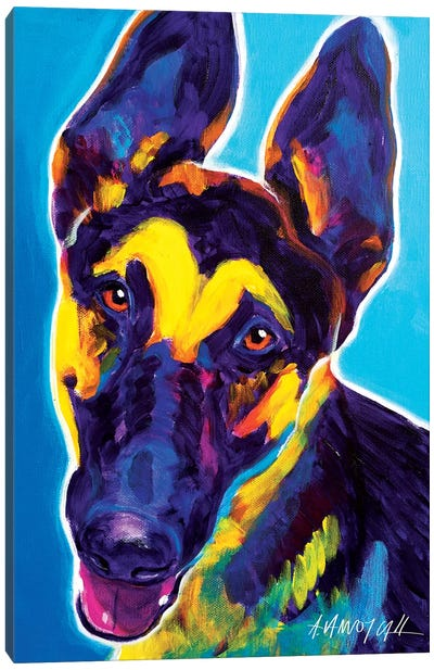 Ajax The German Shepherd Canvas Art Print