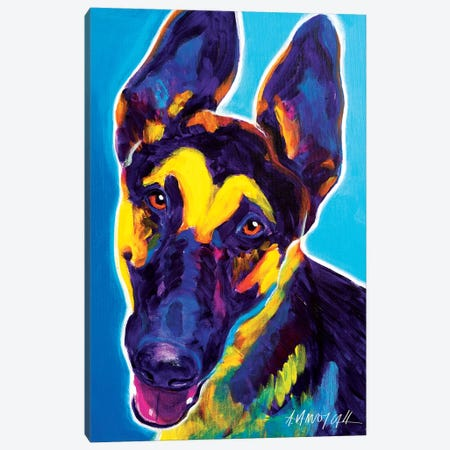 Ajax The German Shepherd Canvas Print #DWG1} by DawgArt Canvas Wall Art