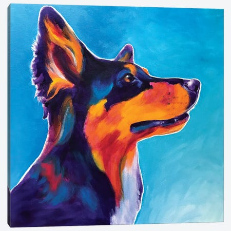 Kona The Aussie  Canvas Print #DWG200} by DawgArt Canvas Art