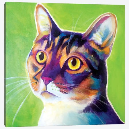 Ripley The Cat Canvas Print #DWG203} by DawgArt Canvas Wall Art