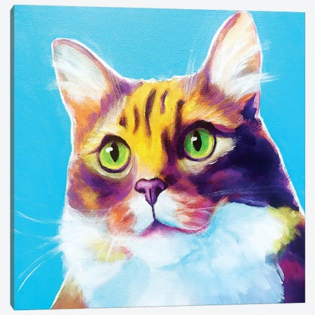 Willow The Cat Canvas Print #DWG204} by DawgArt Canvas Art Print