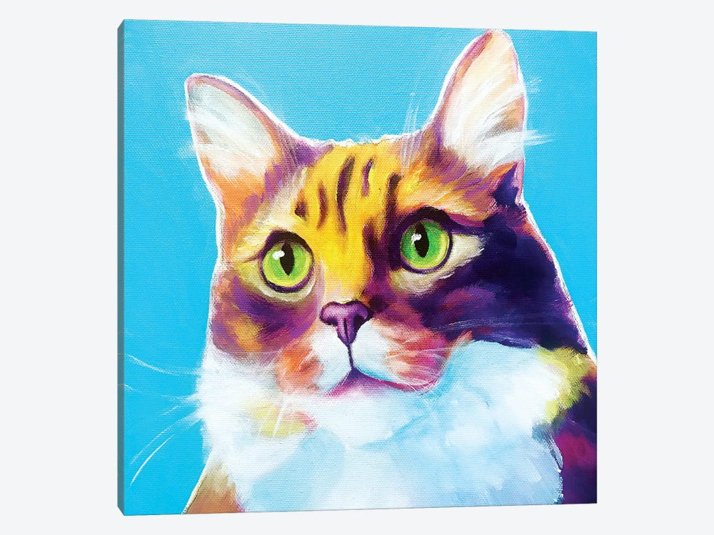 Willow The Cat by DawgArt 1-piece Canvas Wall Art