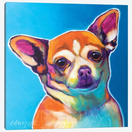 Starr The Chihuahua Canvas Print #DWG206} by DawgArt Canvas Art Print