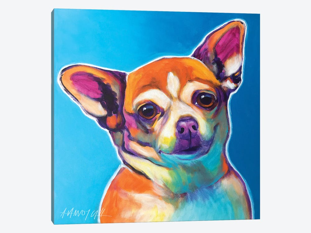 Starr The Chihuahua by DawgArt 1-piece Canvas Art