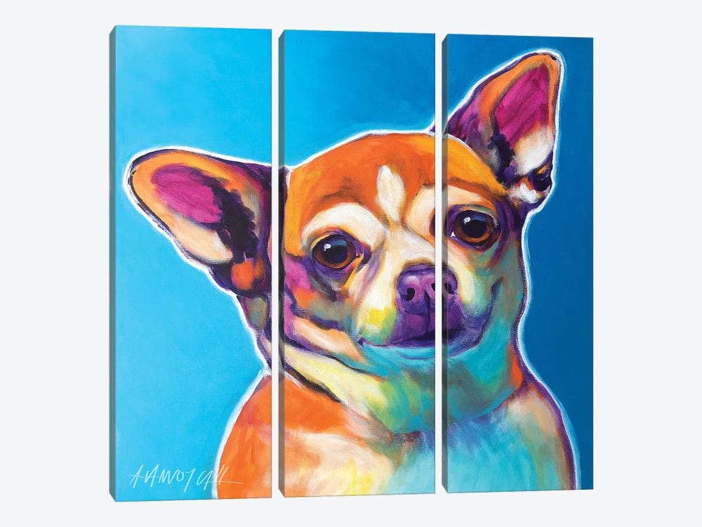 Starr The Chihuahua by DawgArt 3-piece Canvas Wall Art