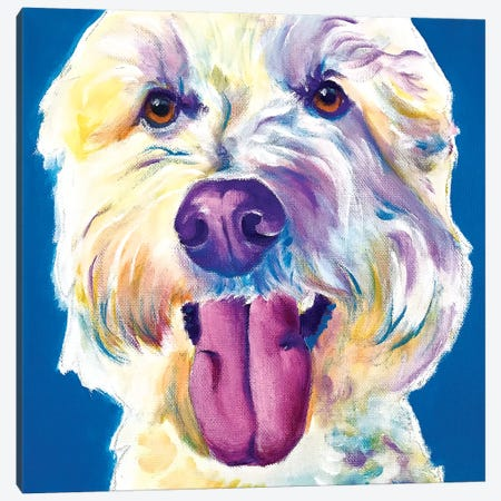 Hank The Doodle Canvas Print #DWG208} by DawgArt Canvas Artwork