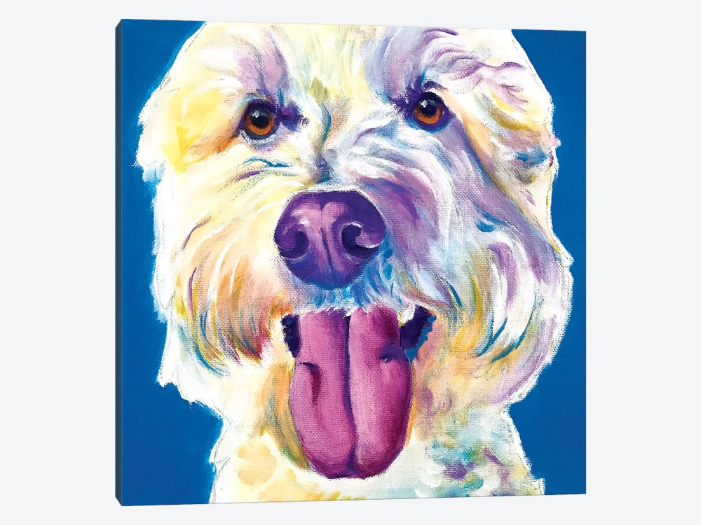 Hank The Doodle by DawgArt 1-piece Canvas Wall Art