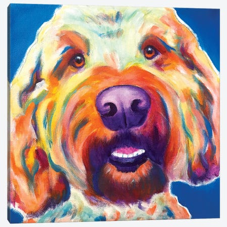 Larry The Doodle Canvas Print #DWG209} by DawgArt Canvas Artwork