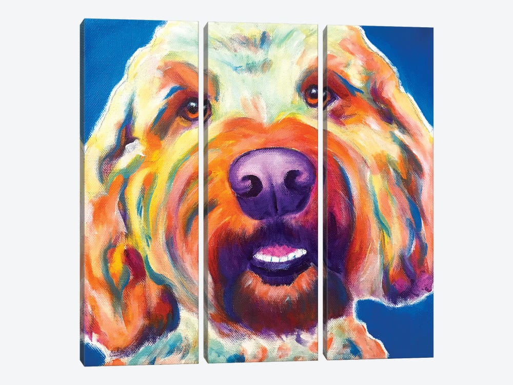 Larry The Doodle by DawgArt 3-piece Canvas Print