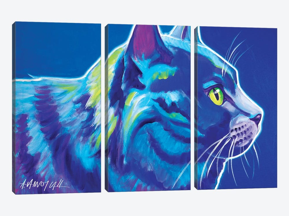 Blue Boy by DawgArt 3-piece Canvas Wall Art
