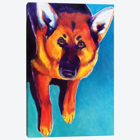 Kim The German Shepherd  Canvas Print #DWG210} by DawgArt Canvas Art Print