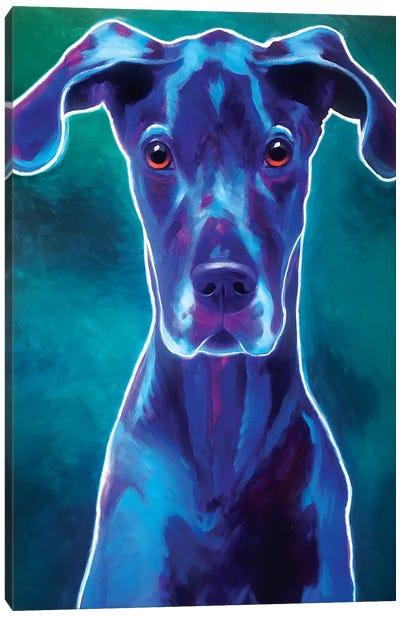 Blue The Great Dane Canvas Art Print