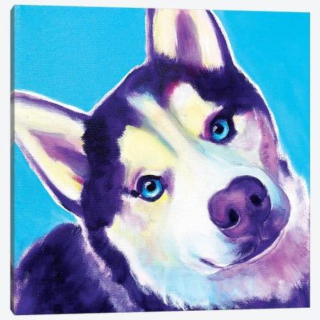 Dico The Husky Canvas Print #DWG213} by DawgArt Canvas Print