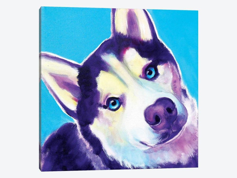 Dico The Husky by DawgArt 1-piece Canvas Art