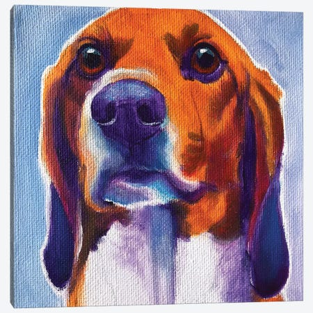 Beagle - Mason Canvas Print #DWG221} by DawgArt Canvas Art
