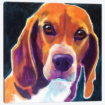 Beagle - Woody Canvas Print #DWG223} by DawgArt Canvas Artwork