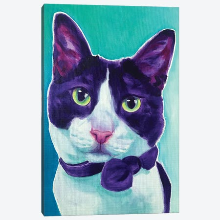Cat - Sniffles Canvas Print #DWG227} by DawgArt Art Print