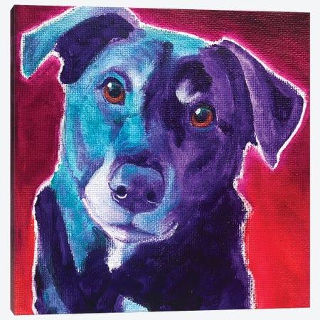 Lab - Valentine Canvas Print #DWG231} by DawgArt Canvas Art Print