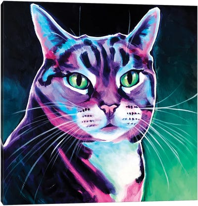 Tabby - Smoke Canvas Art Print